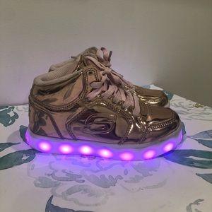 Skechers Energy Lights in Rose Gold Size 12